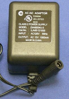 ZIA48004U-5 AC 12V transformer adapter