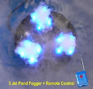 PJ-2C(RGB)-R high output remote controlled pond fogger